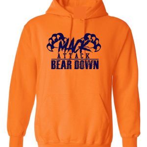 Mack Attack Bear Down, Orange, Hoodie