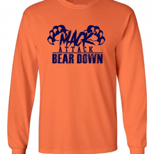 Mack Attack Bear Down, Orange, Long-Sleeved