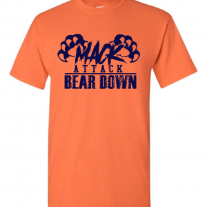 Mack Attack Bear Down, Orange, T-Shirt