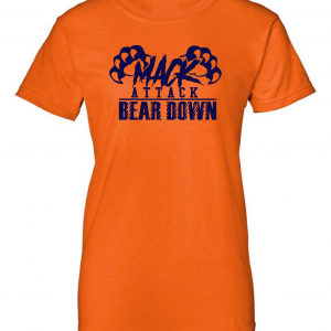 Mack Attack Bear Down, Orange, Women's Cut T-Shirt