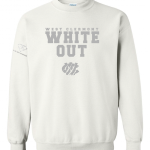West Clermont Youth White Out, White, Crew Sweatshirt