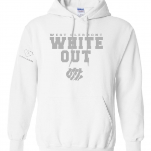 West Clermont Youth White Out, White, Hoodie