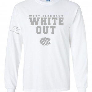 West Clermont Youth White Out, White, Long-Sleeved