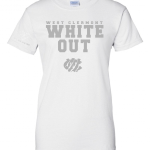West Clermont Youth White Out, White, Women's Cut T-Shirt