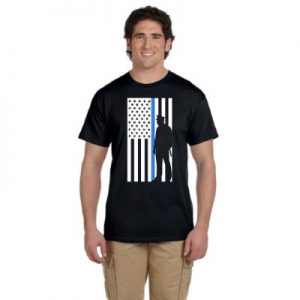 Thin Blue Line - T-Shirt - Black