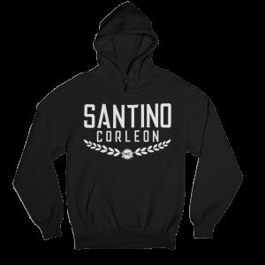 Santino Corleon Black Hoodie with black lettering