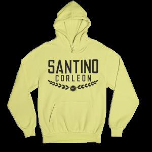 Santino Corleon Cornsilk (pale yellow) Hoodie with black lettering