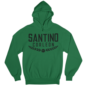 Santino Corleon Kelly Green Hoodie with black lettering