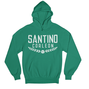 Santino Corleon Kelly Green Hoodie with white lettering