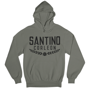 Santino Corleon Military Green Hoodie with black lettering