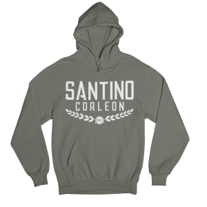 Santino Corleon Military Green Hoodie with white lettering