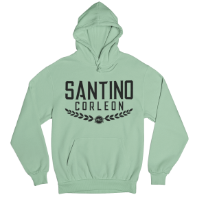 Santino Corleon Mint Green Hoodie with black lettering