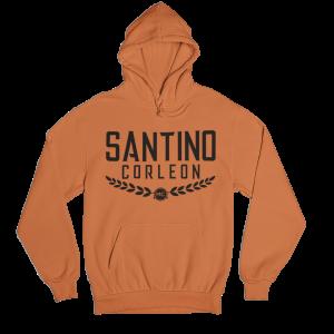 Santino Corleon Orange Hoodie with black lettering