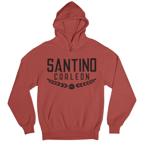 Santino Corleon Red Hoodie with black lettering