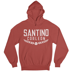 Santino Corleon Red Hoodie with white lettering