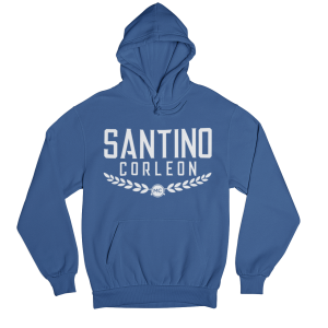 Santino Corleon Royal Blue Hoodie with white lettering