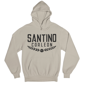 Santino Corleon Sand (tan) Hoodie with black lettering