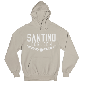 Santino Corleon Sand (tan) Hoodie with white lettering