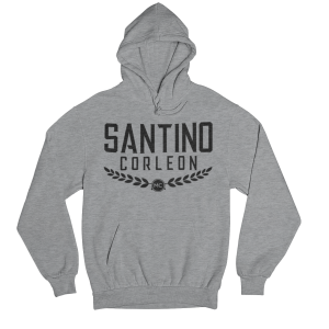 Santino Corleon Sport Grey Hoodie with black lettering