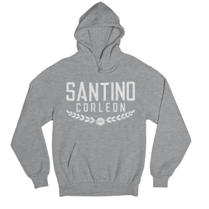 Santino Corleon Sport Grey Hoodie with white lettering