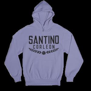 Santino Corleon Violet Hoodie with black lettering