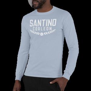 Santino Corleon Light Blue Long Sleeve Shirt with white lettering