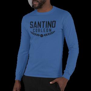 Santino Corleon Royal Blue Long Sleeve Shirt with black lettering