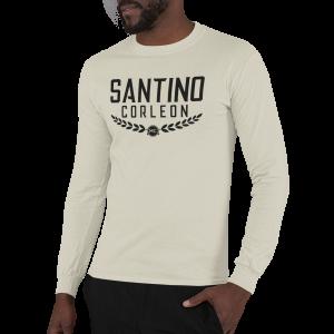 Santino Corleon Sand (tan) Long Sleeve Shirt with black lettering