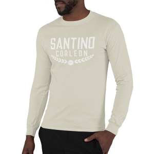 Santino Corleon Sand (tan) Long Sleeve Shirt with white lettering