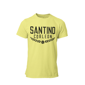 Santino Corleon Cornsilk (pale yellow) T-Shirt with black lettering