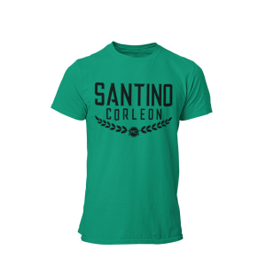 Santion Corleon Kelly Green T-Shirt with black lettering