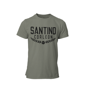 Santino Corleon Military Green T-Shirt with black lettering