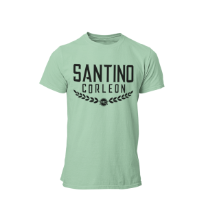 Santino Corleon Mint Green T-Shirt with black lettering