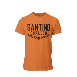 Santino Corleon Orange T-Shirt with black lettering