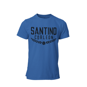 Santino Corleon Royal Blue T-Shirt with black lettering