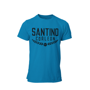 Santino Corleon Sapphire T-Shirt with black lettering
